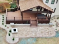 Trex Deck with covered porch and built in hot tub
