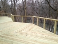 Treated deck with cable railing