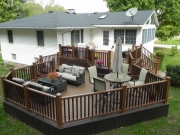 detached deck with furniture and accessories
